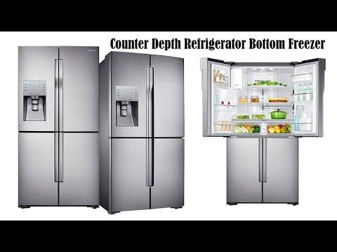 counter depth refrigerator bottom freezer samsung rf23j9011sr counter depth refrigerator youtube. Black Bedroom Furniture Sets. Home Design Ideas