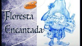 Floresta Encantada - Criando um gnomo Pirata - Curso de desenho online da IPStudio