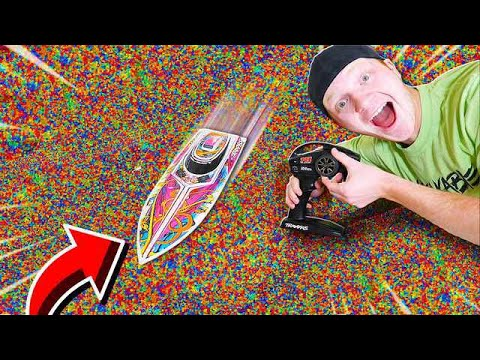 100MPH RC BOAT vs 1 MILLION ORBEEZ!