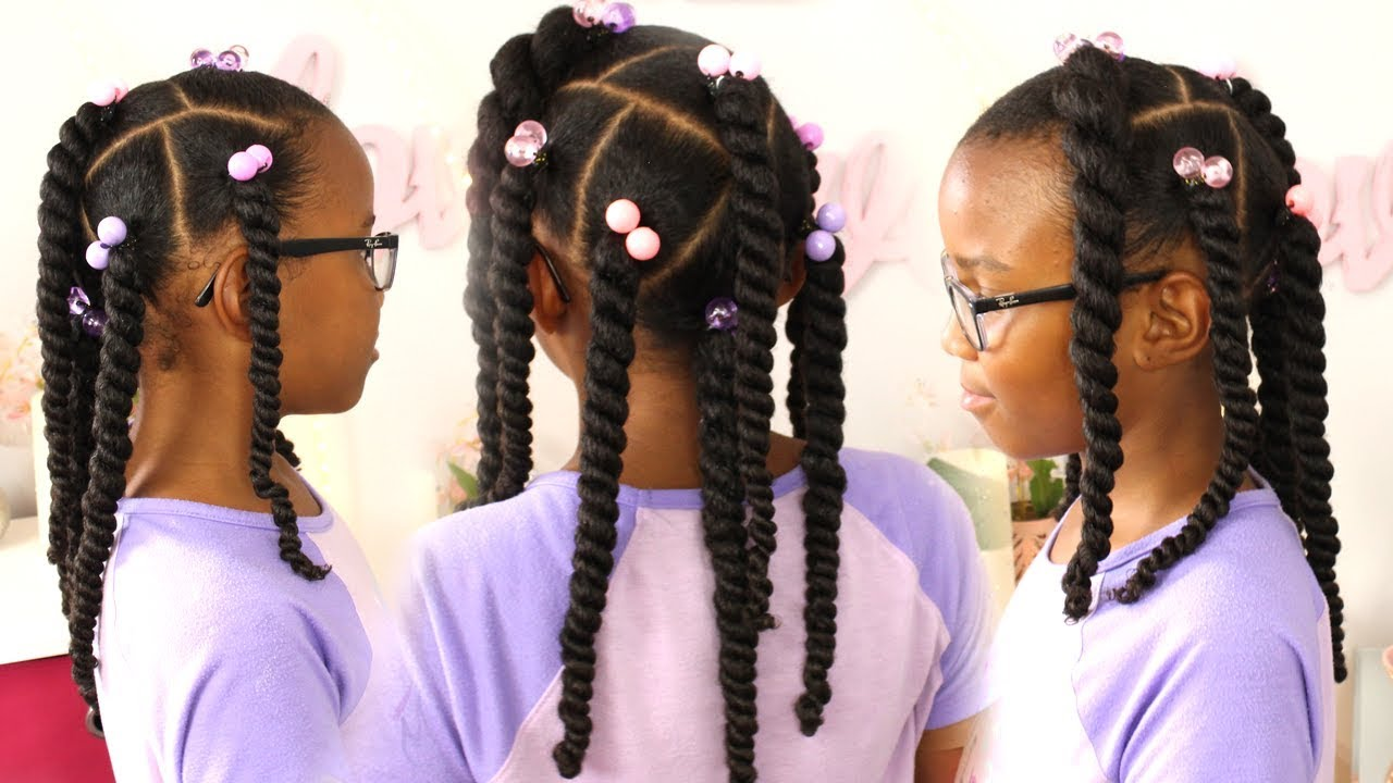 Easy Ponytails Little Girls Hairstyle Natural Hair Youtube