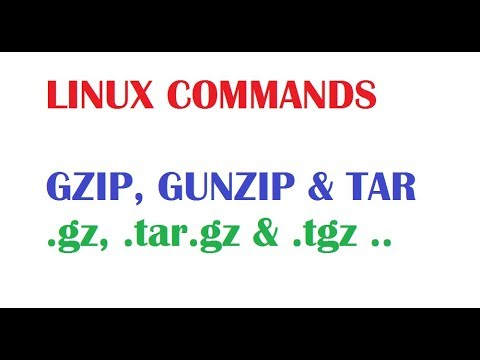 Linux Tutorial For Beginners - gzip, gunzip, tar commands