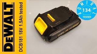 Тест акумулятора DeWALT DCB181 18V 1.5 Ah. Частина 7
