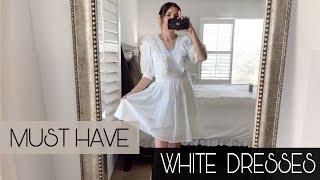 ZARA H&M ASOS WHITE DRESSES SPRING SUMMER HAUL 2020 *NEW IN*