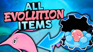 All Evolution Items in Pokemon! w/ Woopsire!