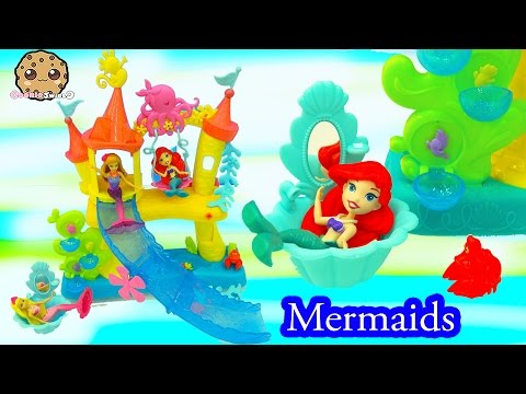 Disney Princess Little Kingdom Ariel's Sea Castle Mermaid Water Play Playset - Cookieswirlc Videos