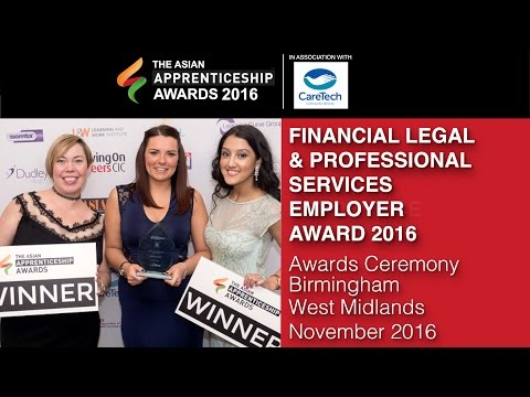 FINANCIAL LEGAL & PROFESSIONAL SERVICES EMPLOYER AWARD 2016 @ The Asian Apprenticeship Awards 2016