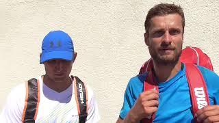Petr Michnev a Pavel Nejedlý po porážce ve čtvrtfinále deblu Rieter Open Ústí nad Orlicí 2018