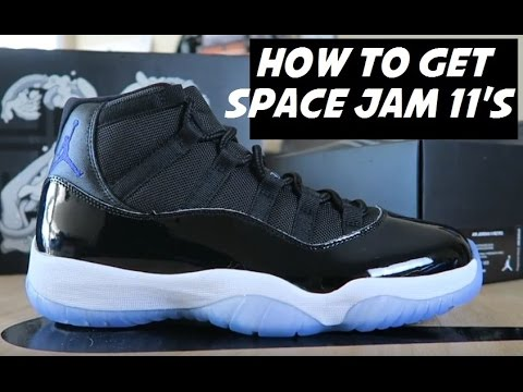 65c78b707e0f0c HOW TO GET AIR JORDAN SPACE JAM 11 SHOES - YouTube