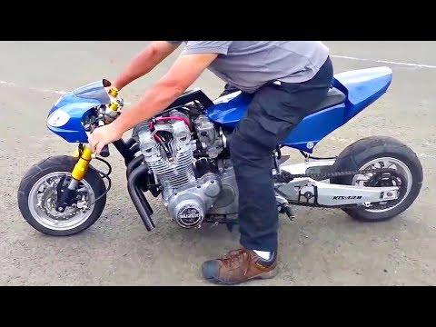😈 Мопед (Скутер) + Двигатель от СпортБайка 😲!