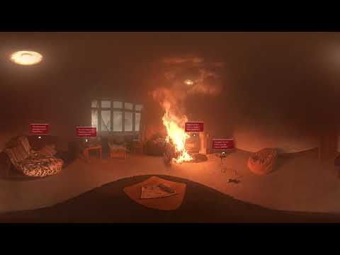Experience a real house fire through 360 video  Escape My House