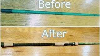how to replace broken reel seat on old fishing rod ep 32