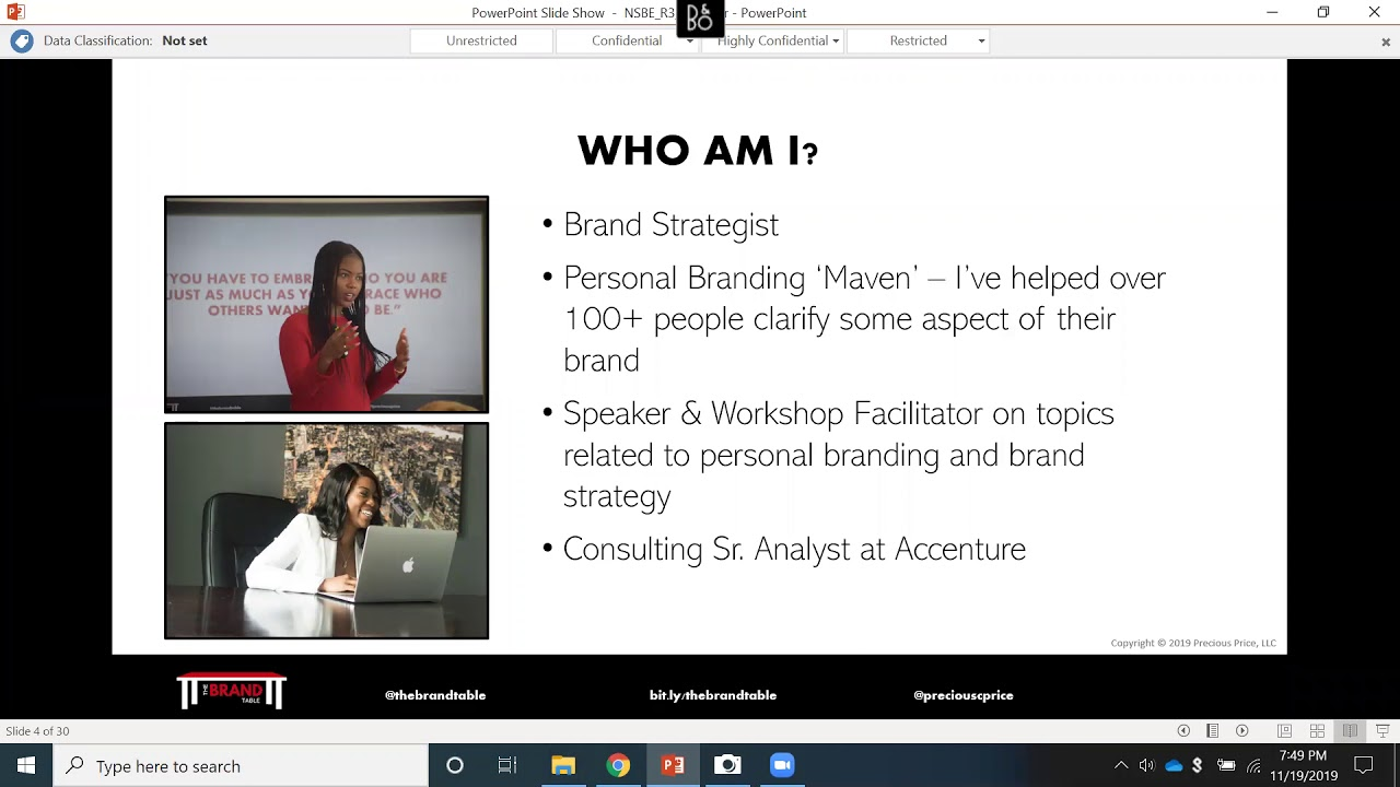 Precious Price | How to Build and Monetize Your Personal Brand Webinar | The Brand Table