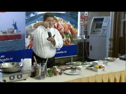 Слоеный салат с креветками и