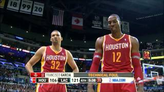 "Dwight Howard asks Clippers if they ""paid the refs off"" during technical foul."