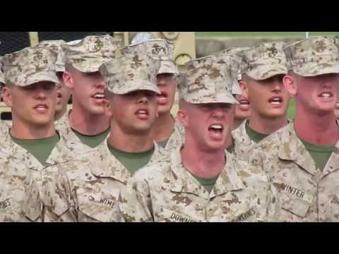 Marines Hymn OCS Echo, Golf and India Companies 2013