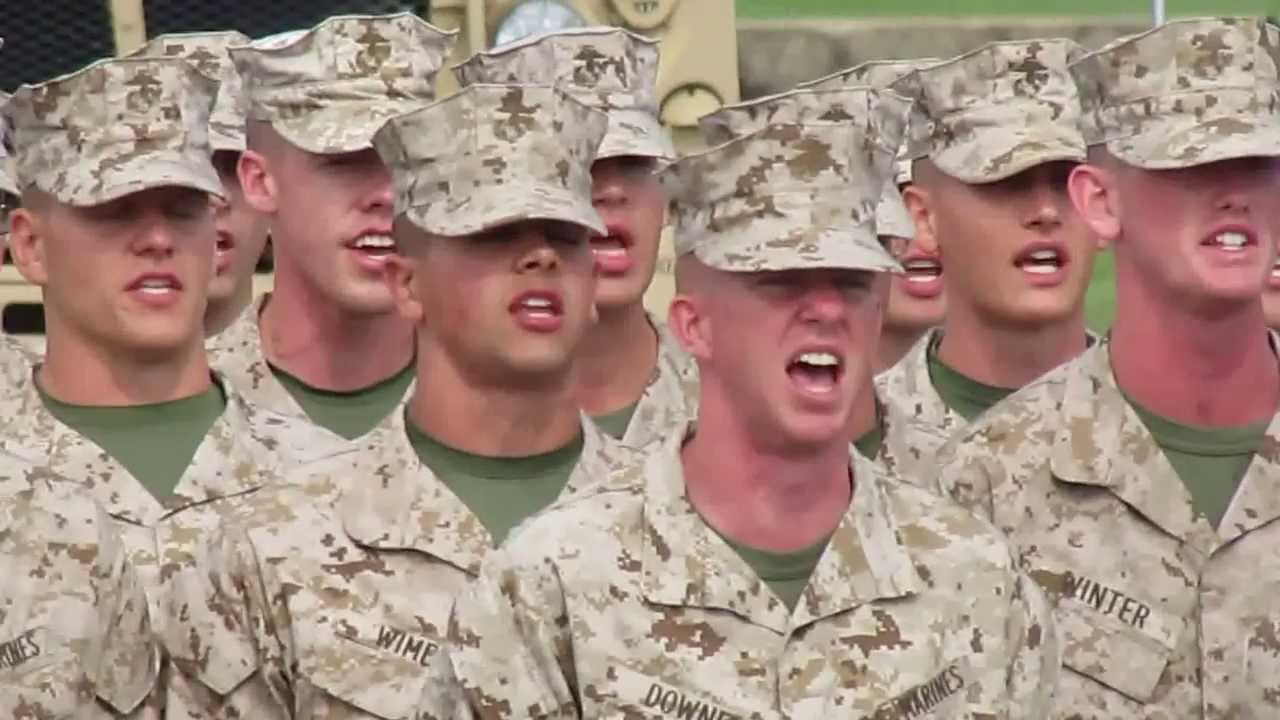 Marines Hymn OCS Echo, Golf and India Companies 2013 - YouTube