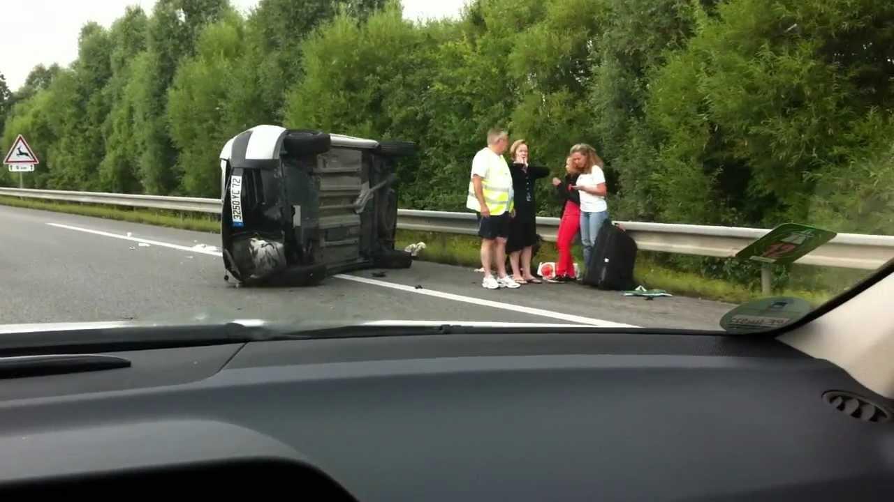 Unfall Frankreich Autobahn