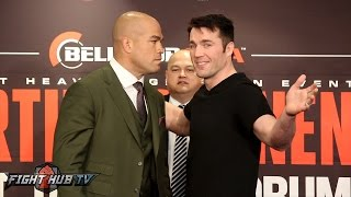 Tito Ortiz vs  Chael Sonnen Full Face Off Video- Bellator 170