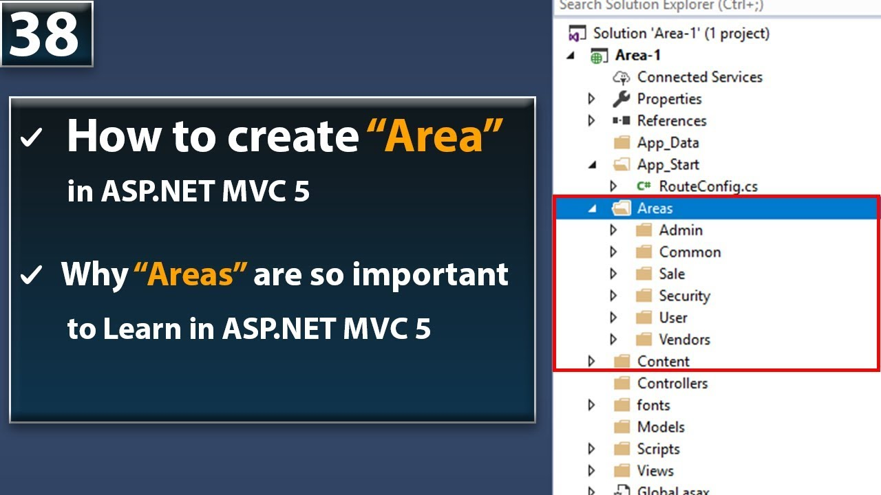 Area in ASP NET MVC 5-Why Areas are so important to lean in ASP NET MVC 5  Tutorials - Next Class