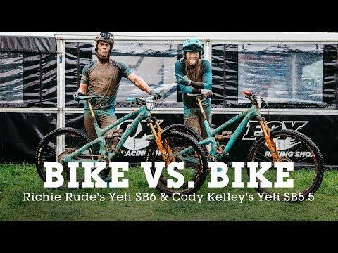 27.5 vs 29 - Bike vs. Bike - Richie Rude's Yeti SB6 or Cody Kelley's Yeti SB5.5
