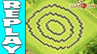 REPLAY'S OF DOUBLE RING BASE TH11 | TH11 WAR BASE 2016 |CLASH OF CLANS