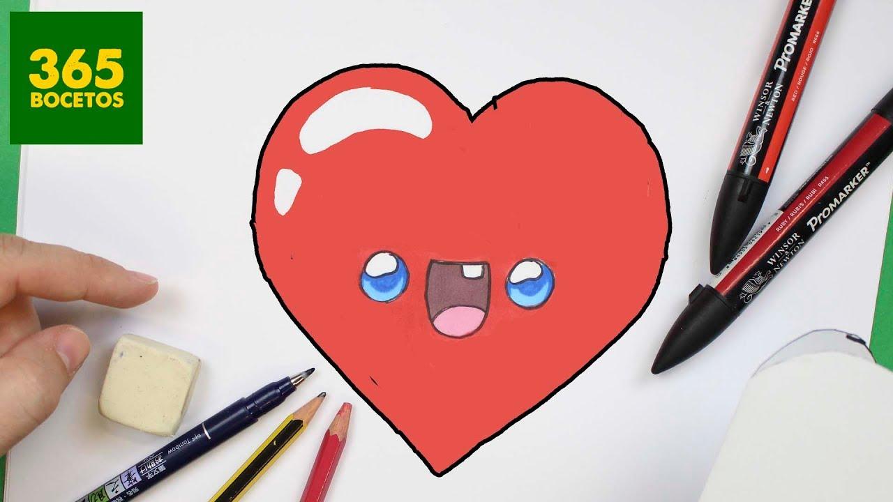 Como Dibujar Corazon Kawaii Paso A Paso Dibujos Kawaii Faciles