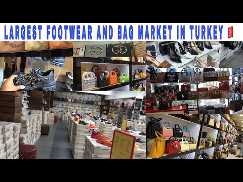 Istanbul wholesale footwear and bags fashion market | largest market in Istanbul Turkey 🇹🇷