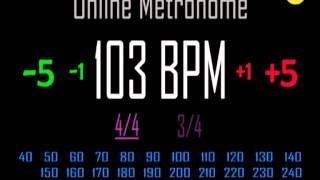 Metronomo Online - Online Metronome - 103 BPM 4/4