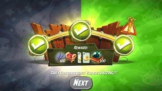 Angry Birds 2: Daily Challenge, Silver Slam! + King Pig Panic! (28.04.2017)