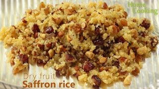 Dry Fruit Saffron Rice | Ventuno Home Cooking