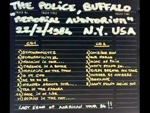 "THE POLICE - Buffalo, NY 22-02-1984 ""Memorial Auditorium"" USA (AUDIO SHOW)"