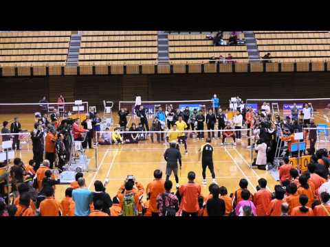 Rudy Hartono & Ehime Governor doubles game in Ehime, Japan