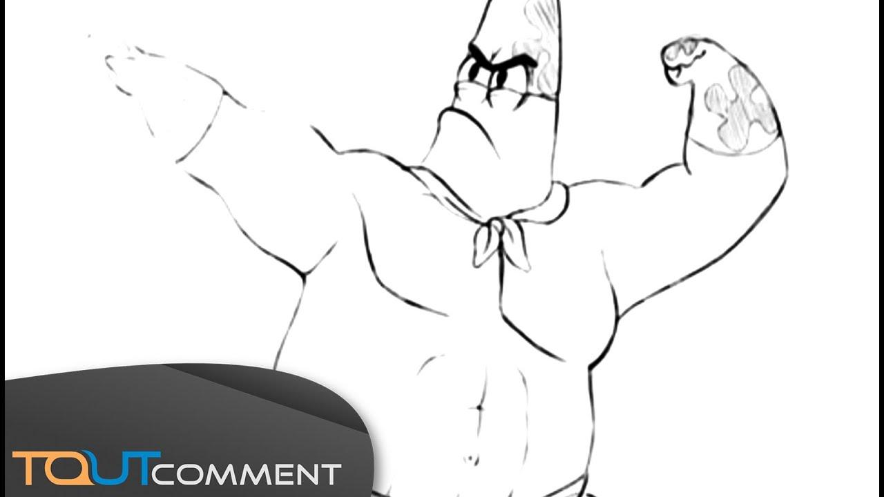 Comment Dessiner Patrick Dans Bob L Eponge How To Draw Patrick