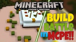 [MCPE] - BUILD BATTLE IN MCPE!!! - Server Gameplay