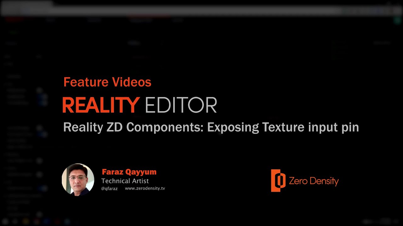 Download Reality Editor | Reality ZD Components Exposing Texture input pin