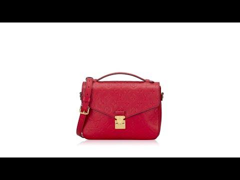 Louis Vuitton Empreinte Pochette Metis Cerise