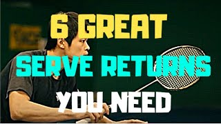 Download lagu 6 Great SERVE RETURNS To Make You a Better Badminton Player - Grip, Strokes, Footwork!