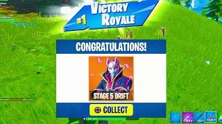 "MAX STAGE 5 ""DRIFT"" Full Set UNLOCKED! Fortnite Season 5 Battle Pass Skin Fully Upgraded"