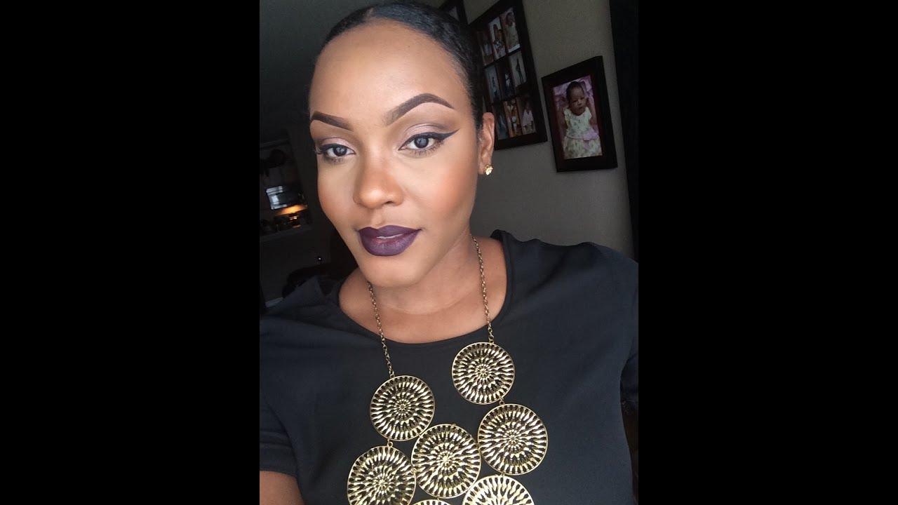 Préférence Autumn/Fall Makeup Tutorial |Smoked Purple (bold lip) - YouTube JG73