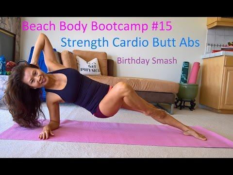 1000-Calories BURN Bday Smash! Strenght, Cardio, Butt, Abs. Beach Body Bootcamp #15