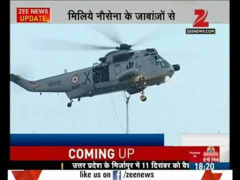 Navy commandos performed stunts on the Indian Navy day