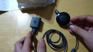 unboxing and full review on chromecast 2 -chromecast 2 فتح علبة و مراجعة كاملة