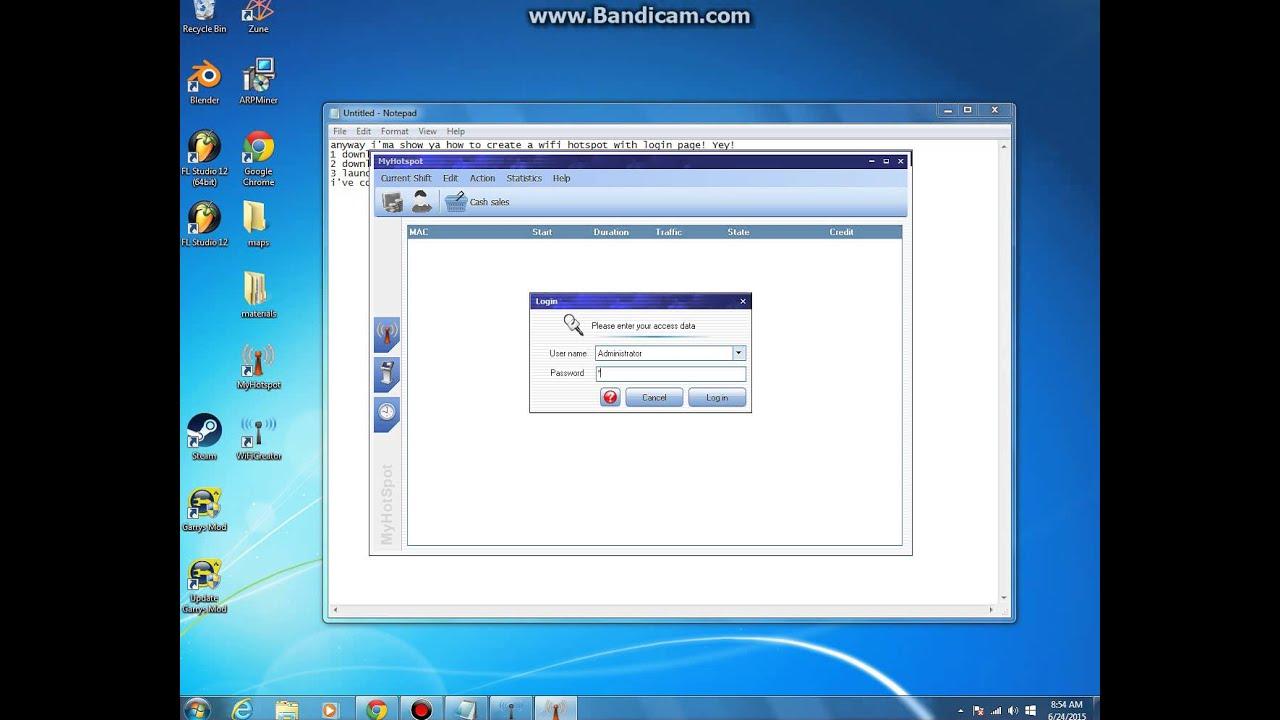 windows 10 how to create a login server