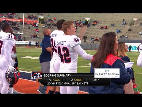 UTSA Roadrunners Vs UTEP Miners College Football Game On Oct 28, 2017 At El Paso, Texas - Full Game