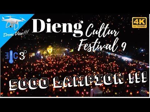 Dieng Culture Festival 2018  | 5000 Lampion | Drone View 4K