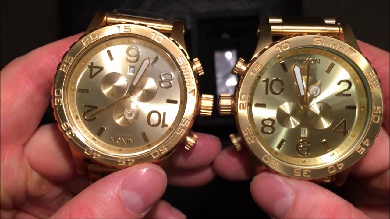Authentic VS Fake Nixon 51-30 All Gold. - YouTube 9778f53523