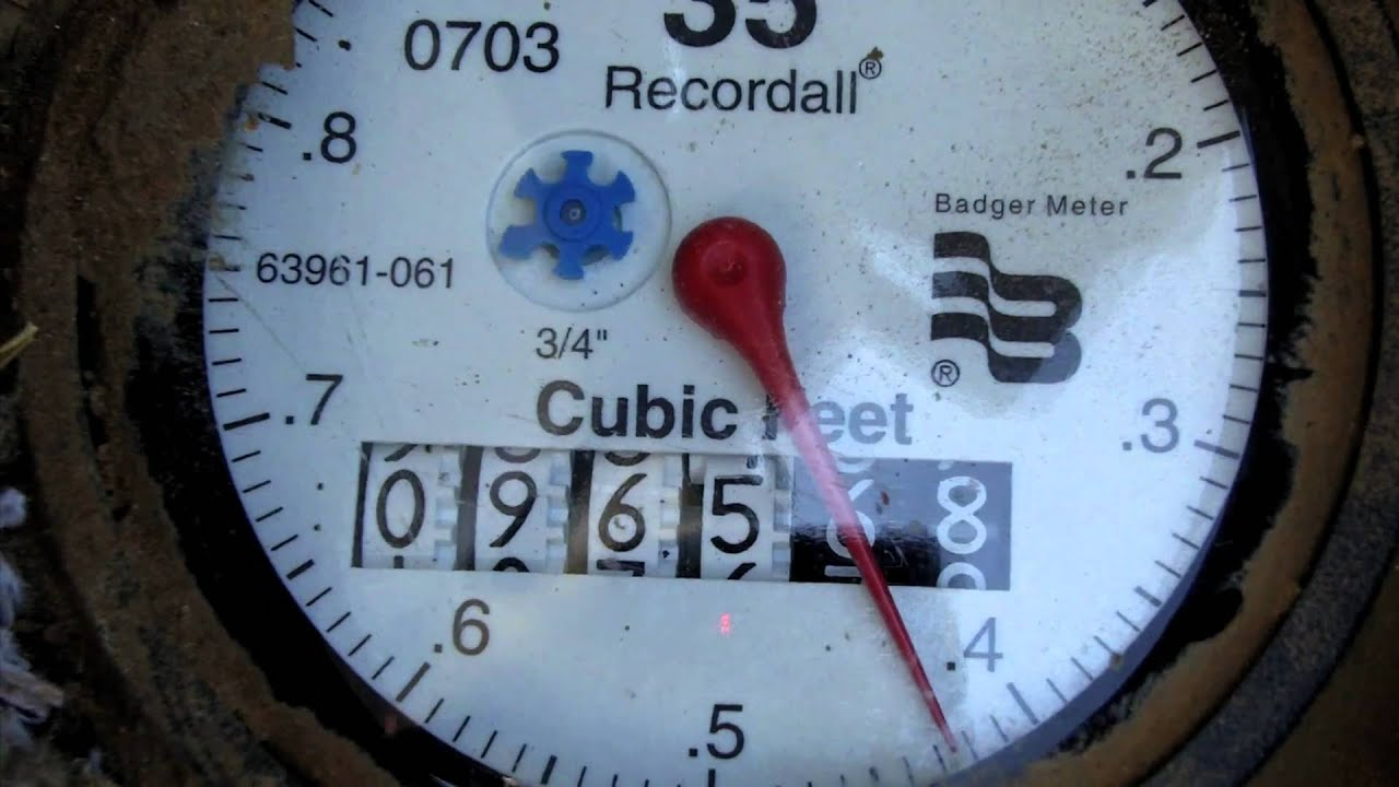 How to remove water meters 86