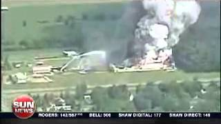 Massive Explosion at Fireworks Factory in Coteau du Lac.