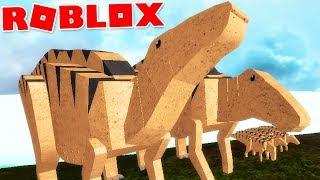 """Dinosaur Simulator (Roblox)-La gran Manada, cazada """"Shantungosaurus""""-(#61) (EN-BR)"""