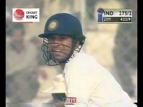 Rahul Dravid 200 & Sachin Tendulkar 122 and 213 runs stand 1st Test vs Zimbabwe Delhi 2000-01